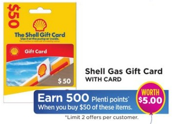 Get 500 Plenti Points With 50 Shell Gift Card Purchase At Rite Aid
