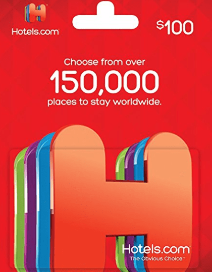 $100 Hotels.com Gift Card For $80 At Amazon - Danny the