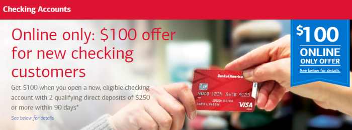 Image result for boa checking account bonus