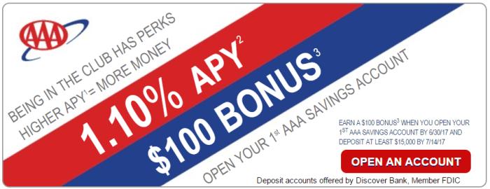 Discover AAA Savings Bonus