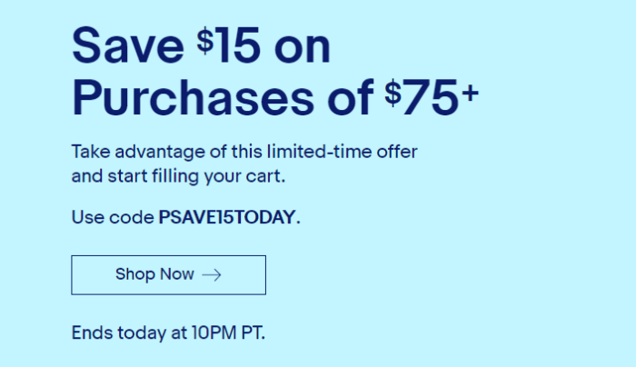 Flash Coupon Save 15 on 75 or More. eBay.png