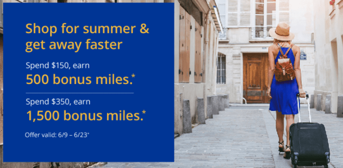 Summer Bonus United MileagePlus Shopping