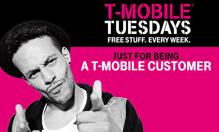 T-Mobile Tuesdays; Free Meals At Carl's Jr. or Hardee's, $5 Movie Tickets, Fuel Savings And More