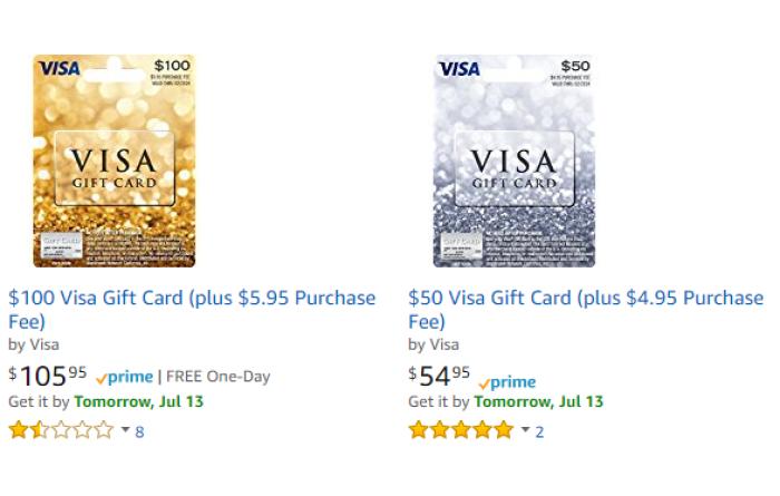 Amazon visa gift cards