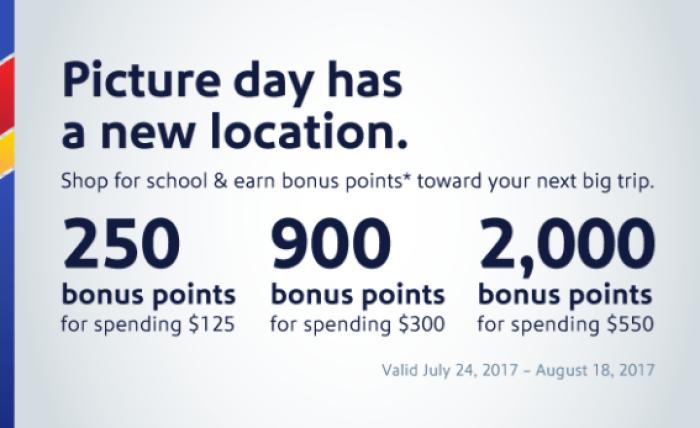 Southwest Airlines Rapid Rewards Shopping Bonus