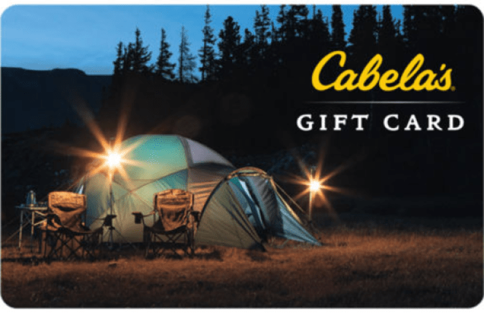 Discounted Cabela's Gift Cards