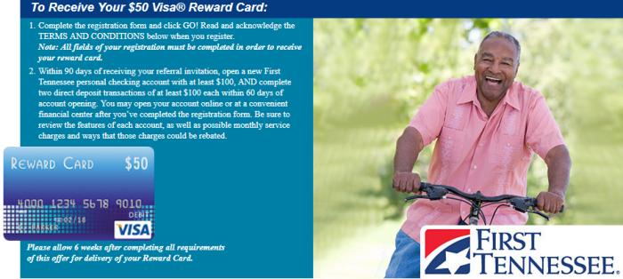 First Tennessee Bank, $300 Checking Bonus