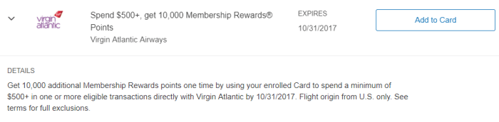 virgin atlantic amex offer