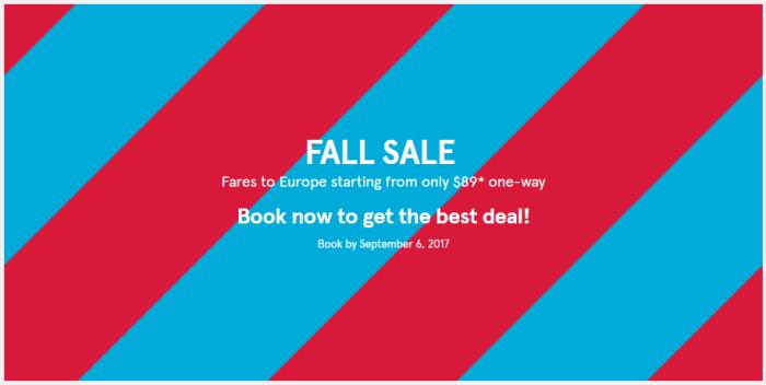 Norwegian Air Fall Sale