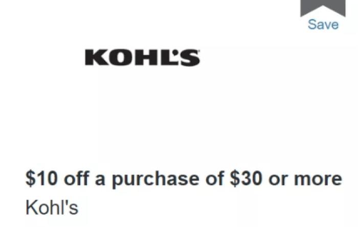 discover kohl's offer