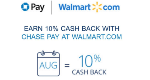 Earn 10X At Walmart.com With Chase Pay, Not Targeted