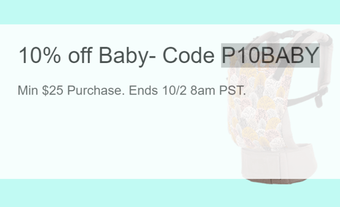 10 Coupon on Baby Gear eBay Events