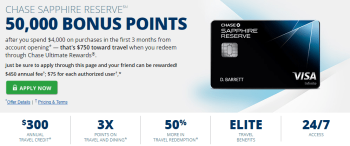 Chase Sapphire Reserve Credit Card Chase.com