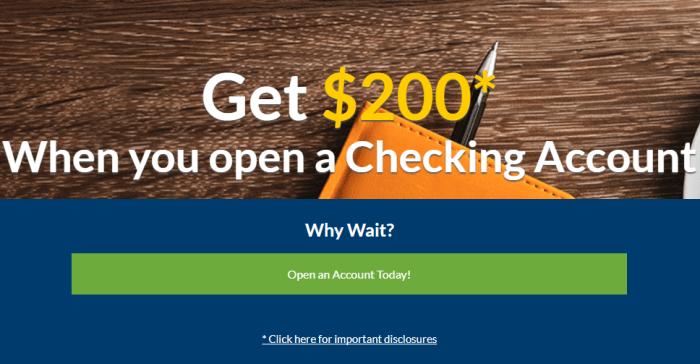 BMT Bank, $200 Checking Account Bonus