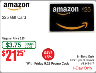 15% Off Amazon Gift Cards Today At Fry's, In-Store Only