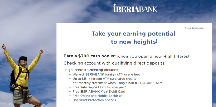IBERIABANK Personal Checking Offer