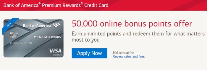 Bank Of America Premium Rewards Credit Card Review