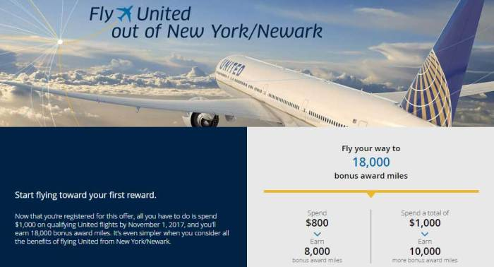 United bonus miles Promotion