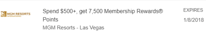 mgm las vegas amex offer