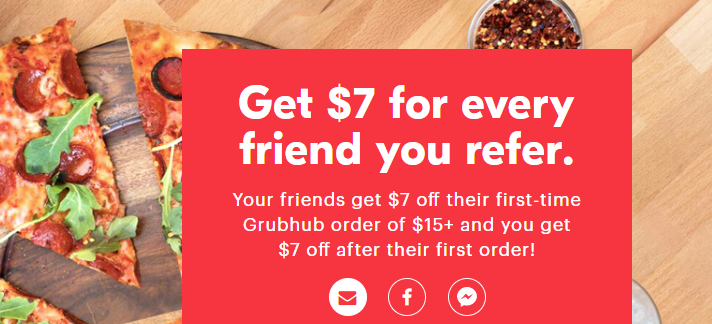GrubHub, Get $7 Signup Bonus Plus $7 Referral Bonuses - Danny the ...