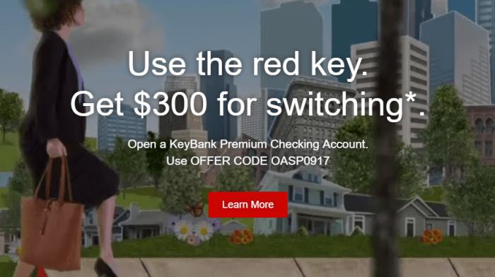 KeyBank $300 Checking Account Bonus