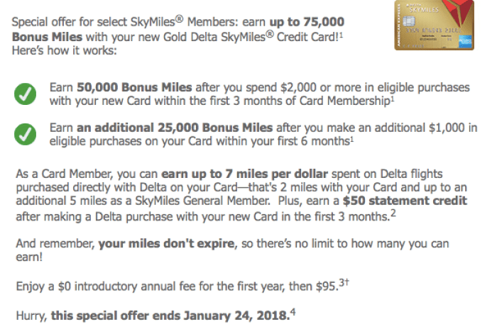 Best Offer For Amex Delta Gold