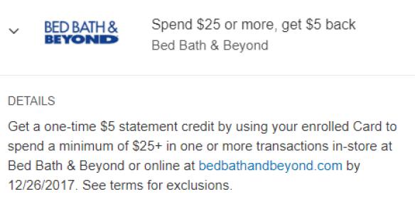 Bed Bath & Beyond Amex Offer