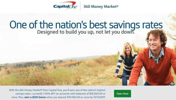 capital one 360 money market