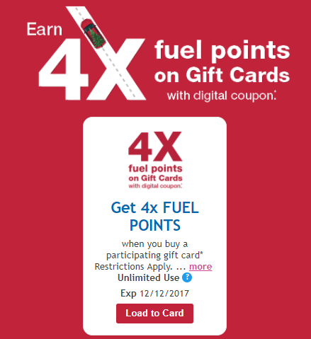 Kroger Gift Card Sale, 4X Fuel Points And Lots Of Other Gift Card Coupons