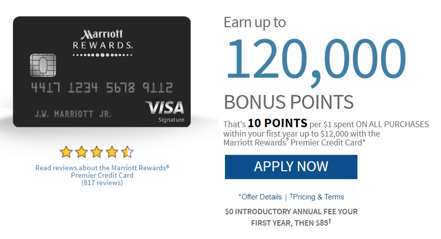 Chase marriott rewards 120k offer plus waived annual fee danny the chase marriott rewards 120k offer reheart Image collections