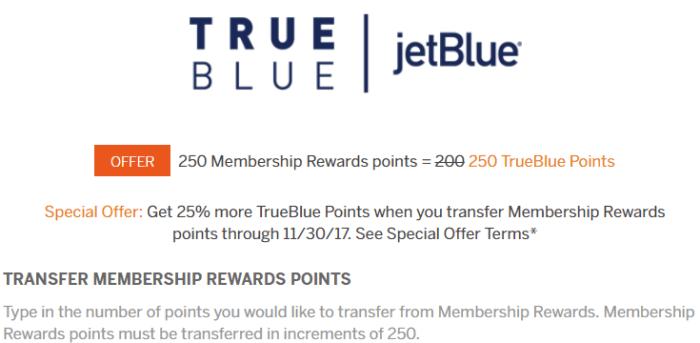Transfer MR Points To JetBlue