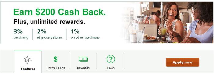 TD Cash Credit Card 200 bonus
