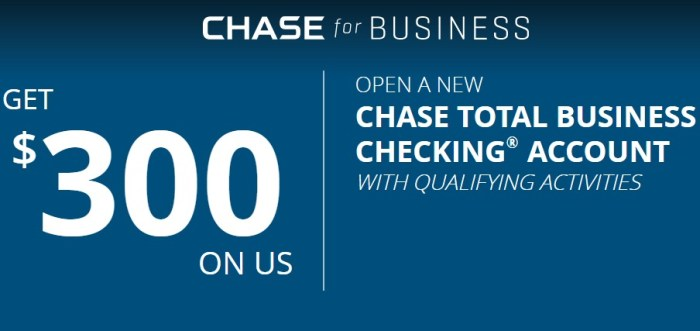 Chase $300 Business Checking Bonus