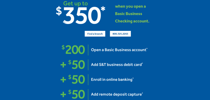 S&T Bank, $300 Business Checking Bonus