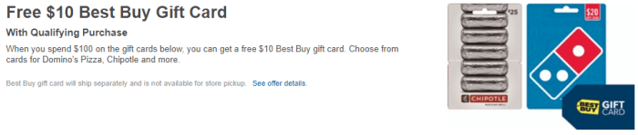 Best Buy Gift card Deal