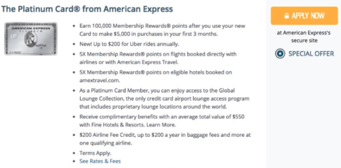 Amex Platinum 100K Offer