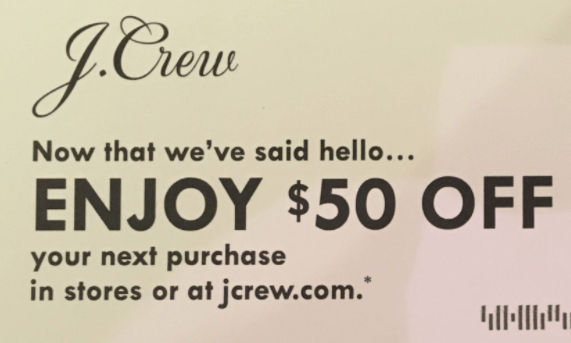 Free $50 To Spend At J.Crew, Check Your Mail