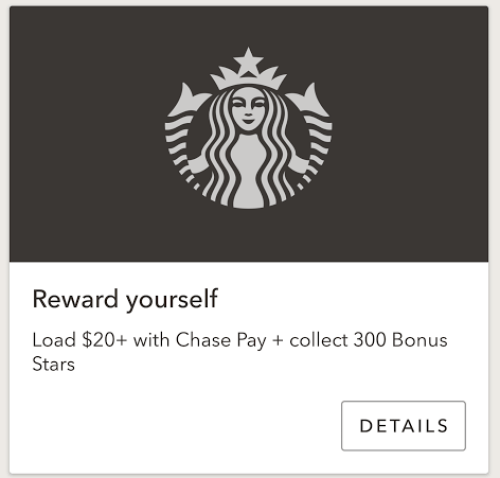 Starbucks chase pay offer