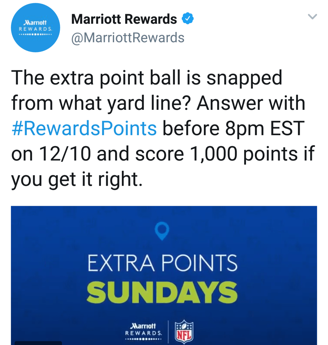 Get Your Free 1,000 Marriott Point This Sunday