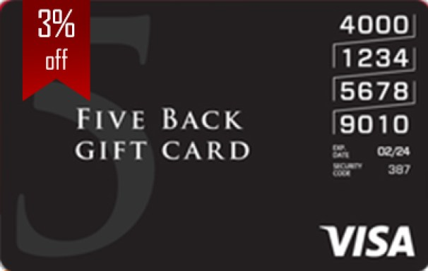 Five Back Visa Card
