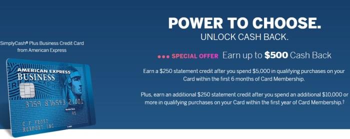 amex simplycash plus 500 bonus