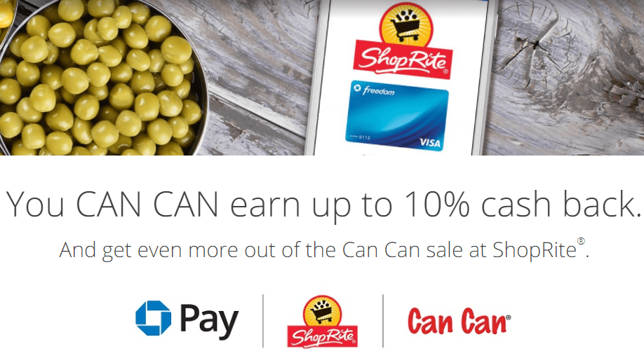 Chase Pay ShopRite Promo, Earn 10X On Up To $400 Spending