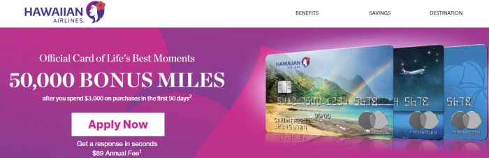 BarclayCard Hawaiian 50K Bonus