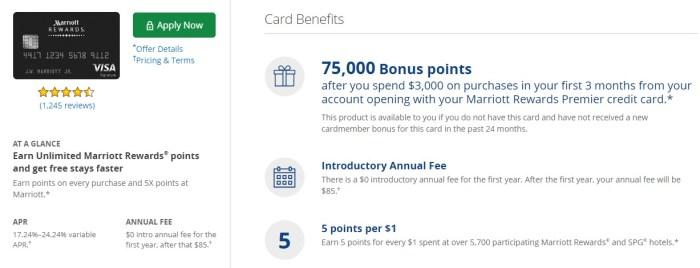 Chase Marriott Rewards Card bonus