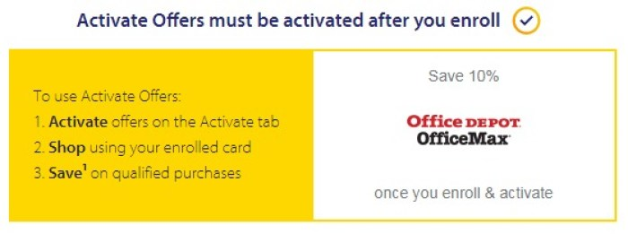 Visa SavingsEdge Activate offers