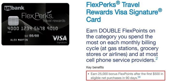 U.S. Bank FlexPerks Travel Rewards 25K