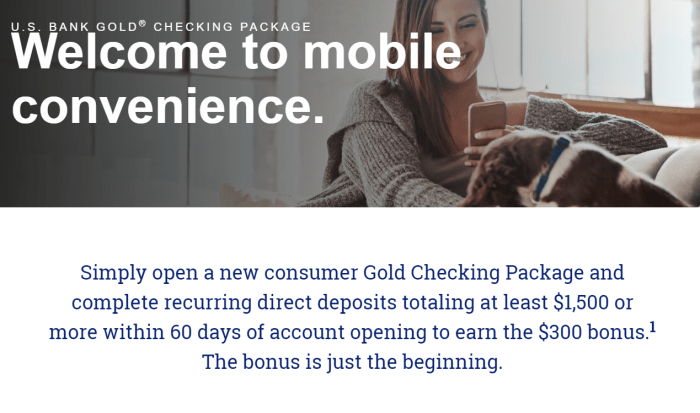US Bank $300 Checking Account Bonus