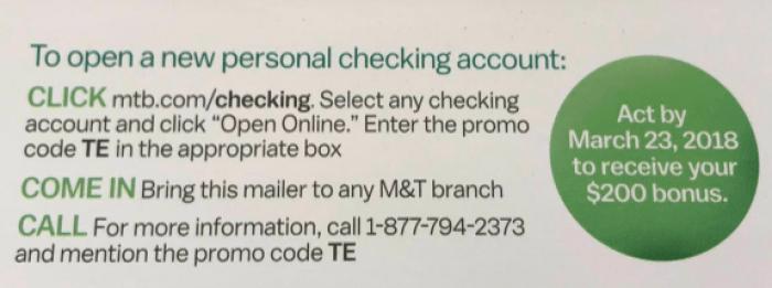 M&T Bank $200