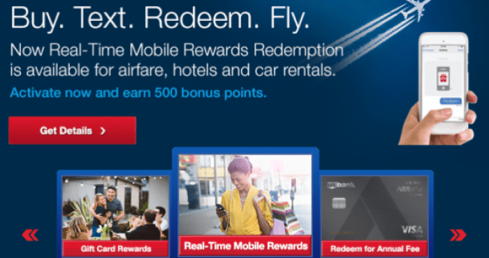 US Bank Real-Time Rewards