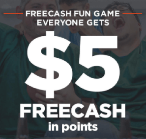 $5 FREECASH Points